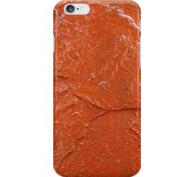 Thick and uneven layer of red paint iPhone Case/Skin