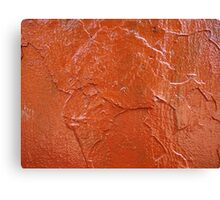 Thick and uneven layer of red paint Canvas Print