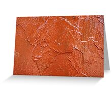 Thick and uneven layer of red paint Greeting Card