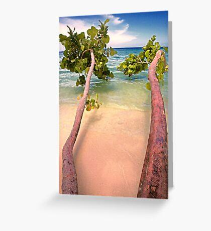Towards The Beach Greeting Card