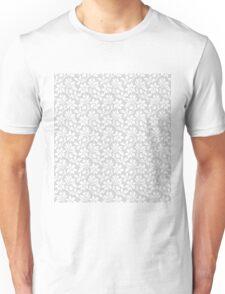 Light Grey Vintage Wallpaper Style Flower Patterns Unisex T-Shirt