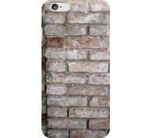 Fragment of a wall of an old red brick with white coating iPhone Case/Skin