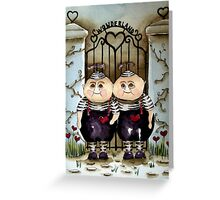 Tweedle Dee and Twiddle Dum Greeting Card