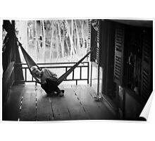 Vietnam - Elderly man resting in Mekong Delta Poster