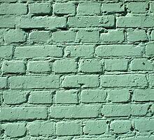Fragment of a green brick wall  by vladromensky