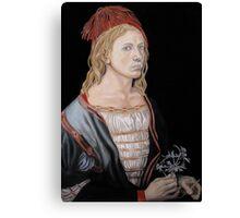"Copy of ""Self-portait at 22"" by Albrecht Dürer 1493 Canvas Print"