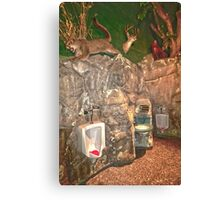 """Nature Calls"" - bathroom in Spring Hill, Wisconsin Canvas Print"