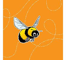 Happily Bumbling Bumble Bee Photographic Print