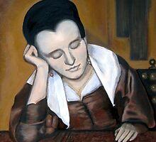 "Copy of ""A Girl Asleep"" by Vermeer 1657 by Jennifer Herrin"