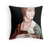 "Copy of ""Lady with Ermine"" by DaVinci 1489 Throw Pillow"