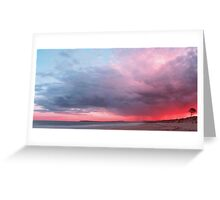 The Sky Above Panorama Greeting Card