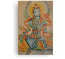 Green Tara: Goddess of Compassion Metal Print