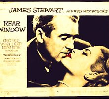Rear Window - James Stewart and Grace Kelly by Regan Hansen