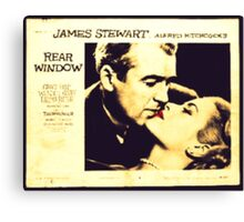 Rear Window - James Stewart and Grace Kelly Canvas Print