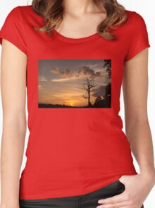 Sunset Tree Women's Fitted Scoop T-Shirt