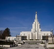 Mormon Temple - Idaho Falls Afternoon by IMAGETAKERS