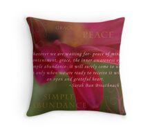 Simple Abundance Throw Pillow