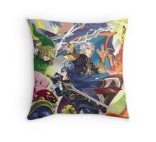 Super Smash Bros - Lucina, Robin, Pikachu, Mario, Luigi, Megaman, Captain Falcon, Kirby, Link, Peach, Charizard Throw Pillow