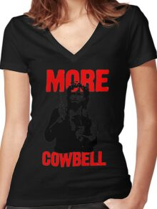 More Cowbell T-Shirt Women's Fitted V-Neck T-Shirt