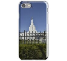 Mormon Temple - Idaho Falls (a) iPhone Case/Skin