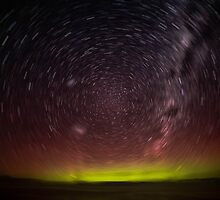 Aurora Aus Star Trail  by LJ_©BlaKbird Photography