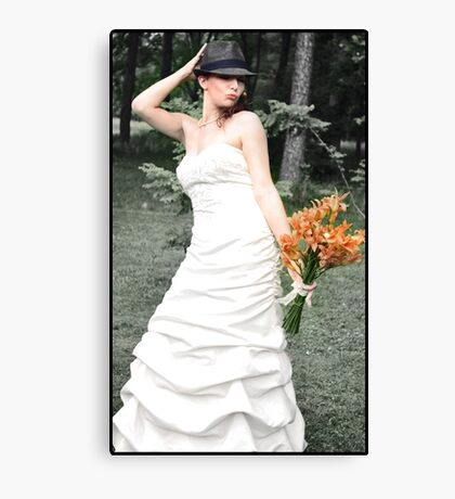 Lovely Bride Canvas Print