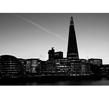 The Shard in B&W Photographic Print