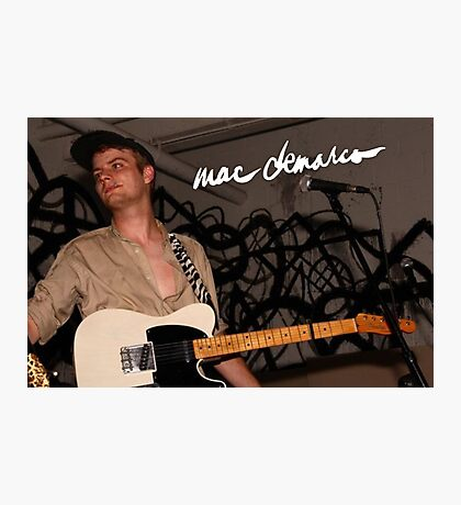 Mac Demarco LIVE Photographic Print