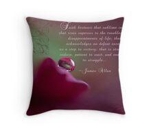 Faith~ Original Macro Water drop Wall Art Throw Pillow