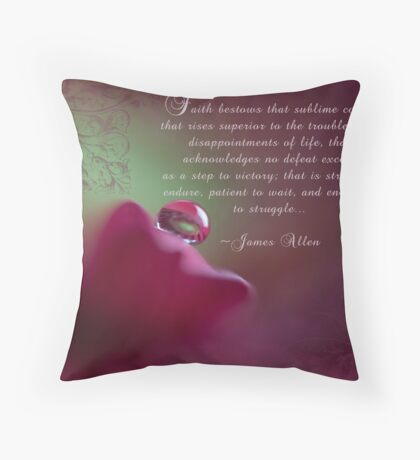Faith~ Original Macro Water drop Wall Art Throw Pillow