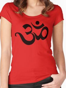 "Yoga ""Om Symbol"" T-Shirt Women's Fitted Scoop T-Shirt"