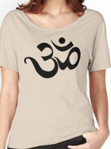 "Yoga ""Om Symbol"" T-Shirt Women's Relaxed Fit T-Shirt"