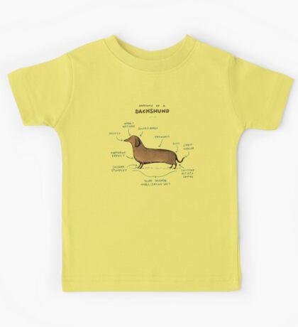 Anatomy of a Dachshund Kids Tee
