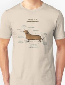 Anatomy of a Dachshund Unisex T-Shirt