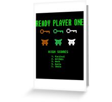 Ready Player One 8-Bit Game High Five Greeting Card