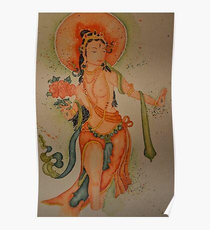 Standing White Tara Poster