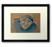 Mother Theresa laughing Framed Print