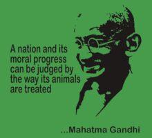Gandhi Animal Rights T-Shirt Kids Clothes