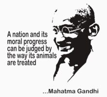 Gandhi Animal Rights T-Shirt Kids Tee