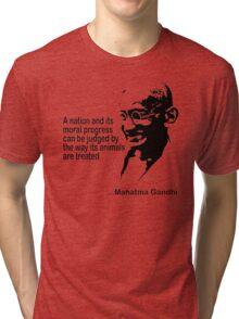 Gandhi Animal Rights T-Shirt Tri-blend T-Shirt