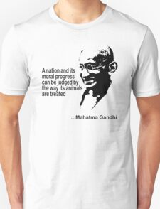 Gandhi Animal Rights T-Shirt Unisex T-Shirt