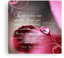 Expectations~ Original Macro Waterdrop Wall Art Canvas Print