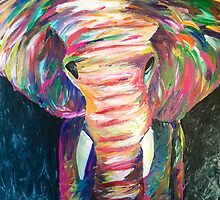 abstract elephant by arielcadoff