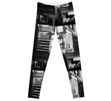 Mixed Media Collage - Industrial Textures 12 Leggings