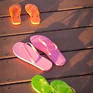 """Walk This Way"" - flip flops by ArtThatSmiles"