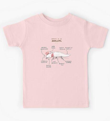 Anatomy of an Axolotl Kids Tee