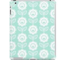 Mint Fun Smiling Cartoon Flowers iPad Case/Skin
