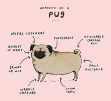 Anatomy of a Pug One Piece - Long Sleeve