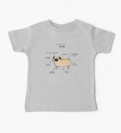 Anatomy of a Pug Baby Tee