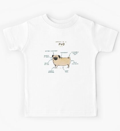 Anatomy of a Pug Kids Tee